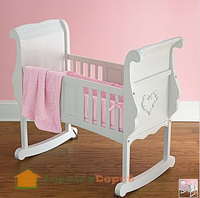 Disney Princess White Rocking Baby Cradle Rocker  Princesses, Disney ...