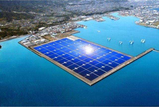 """Kagoshima Nanatsujima Mega-Solar Power Plant""   1.27 million squared meters(27 baseball stadiums)  Will power 22,000 homes  Cost $390 million"