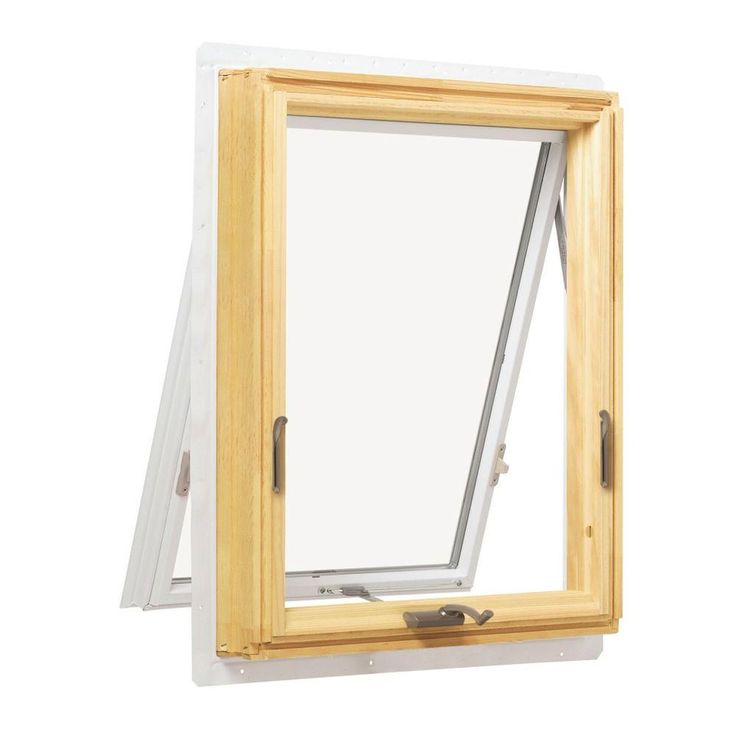 Andersen 24.125 in. x 24.125 in. 400 Series Awning Wood ...