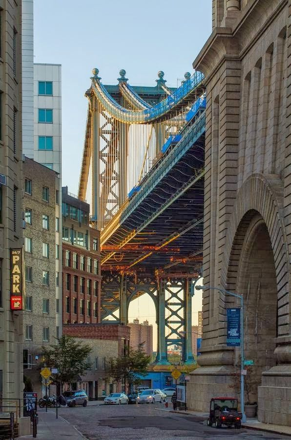 "Down Under Manhattan Bridge (aka ""Dumbo"") NYC topofthebottompile.com #topofthebottompile #awesome"