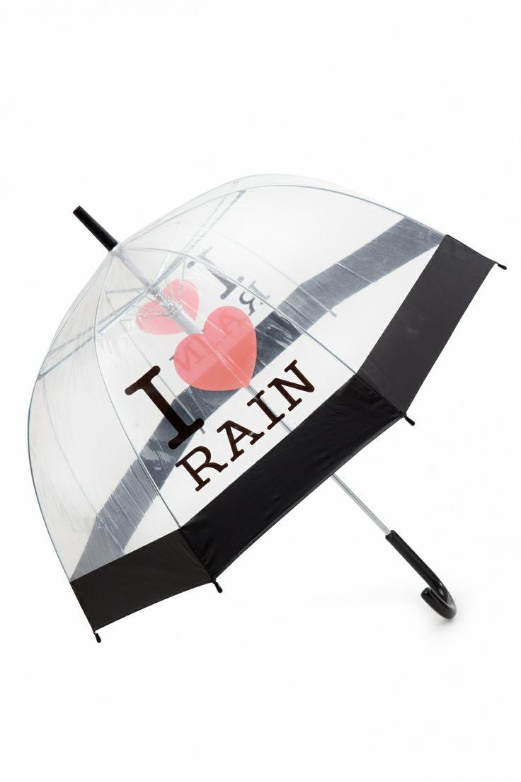 So Rainy - 50s I love Rain Transparent Dome Umbrella