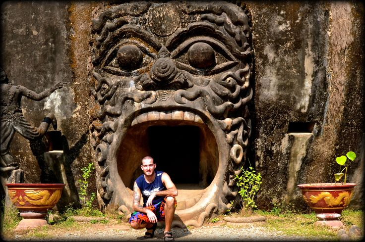 Buddha Park: Just outside the mouth…