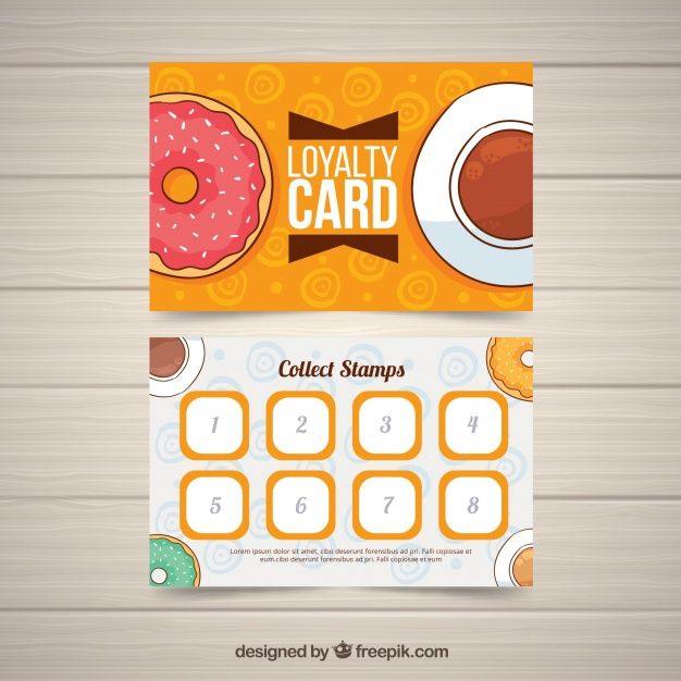 Loyalty Card Template With Coffee Coupon Free Vector Freepik Freevector Coffee Card Template Coupon Loyalty Card Template Card Template Loyalty Card