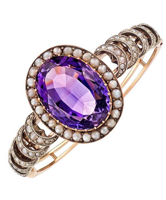 Angara Cushion Amethyst and Diamond Halo Ring With Swirl Motifs in Rose Gold yZomri