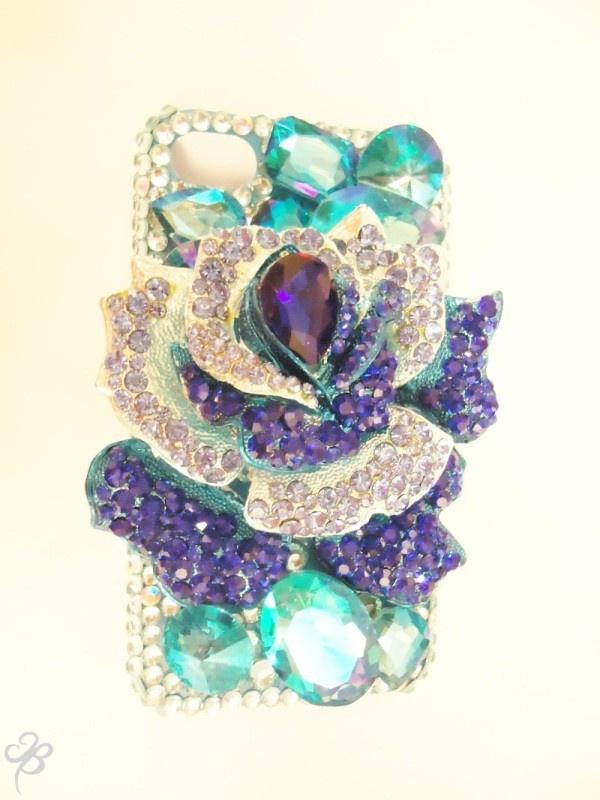 Blue Ross, super shinny Iphone4 4S case~!!!