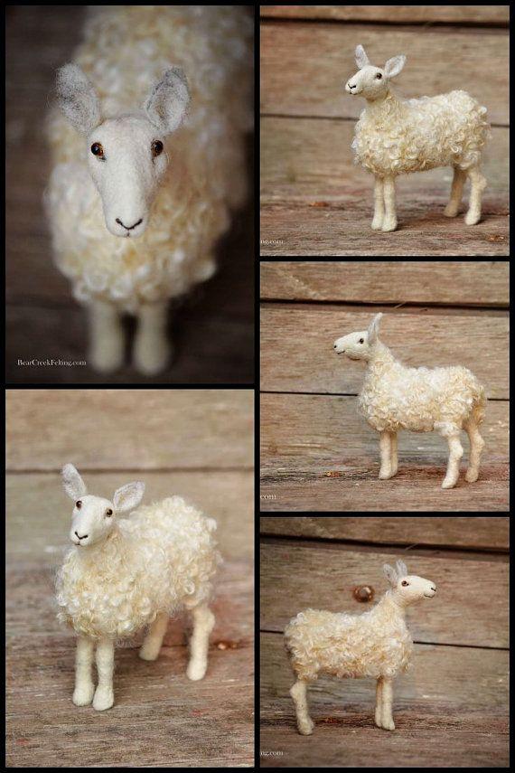 Needle Felted Sheep by Teresa Perleberg of Bear Creek Felting