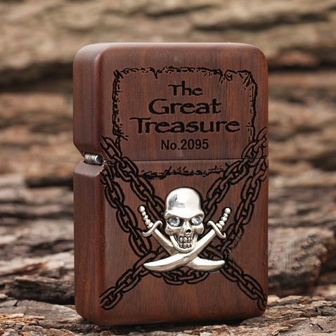 Wooden Pirates of the Caribbean Zippo Limited Edition