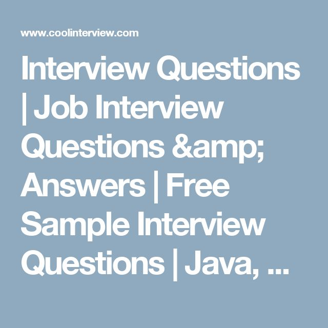 25 best images about Sample Interview Questions – Sample Interview Questions