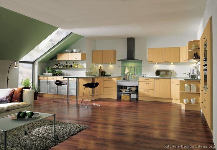 Modern Yellow Kitchen Cabinets #08 (Alno.com, Kitchen-Design-Ideas.org)