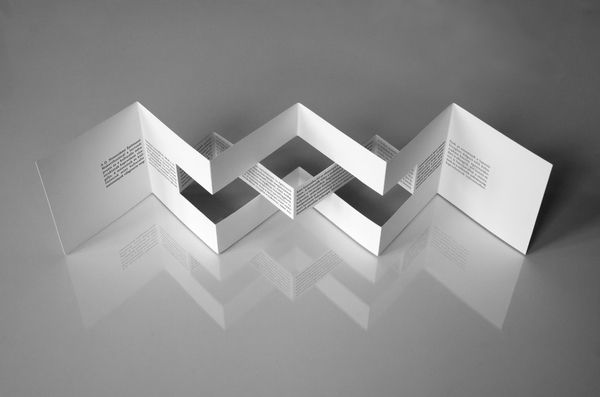 Architectural model festival | brochures by Agnes Dombovari, via Behance