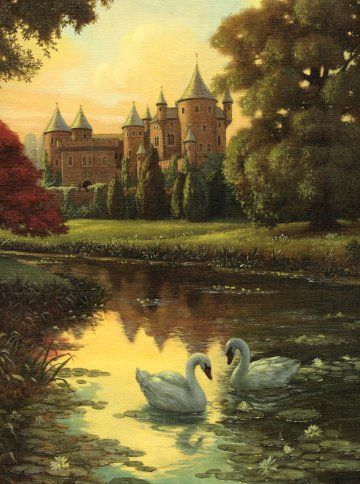 """Still my favorite painting ever done by anyone anywhere. """"Swans"""" by Ruth Sanderson"""