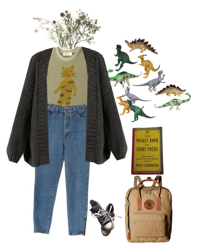 """""""adventure???"""" by lemonscentedgay on Polyvore featuring Crate and Barrel, Dinosaurs, Humör, I Love Mr. Mittens, Converse, Fjällräven and Pocket Book"""