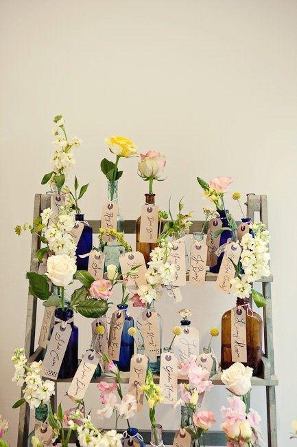 Gorgeous flower escort cards click through to reach our blog!