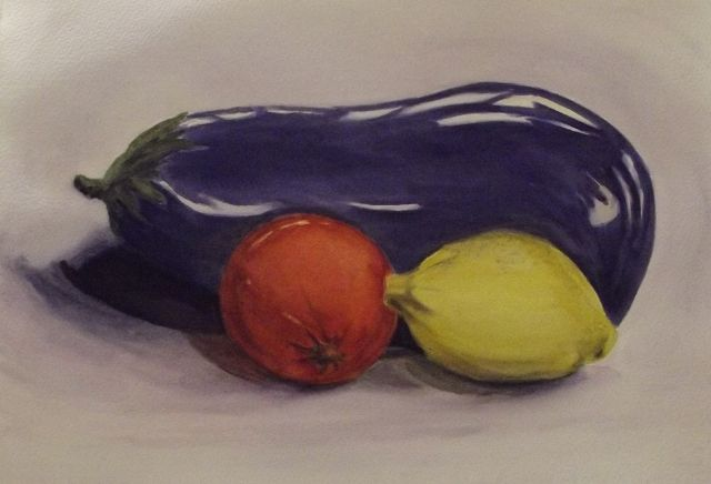 Three amigos - watercolour inspired by a hunger for something new! www.gaylehalliwell.com