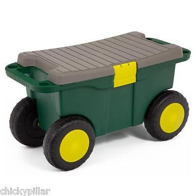 新品 ガーデニング 工具 Heavy Duty Garden Cart Wheeled Caddy Portable