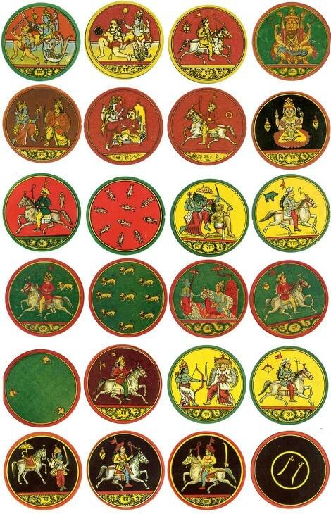 Dasavatara Ganjifa cards from India