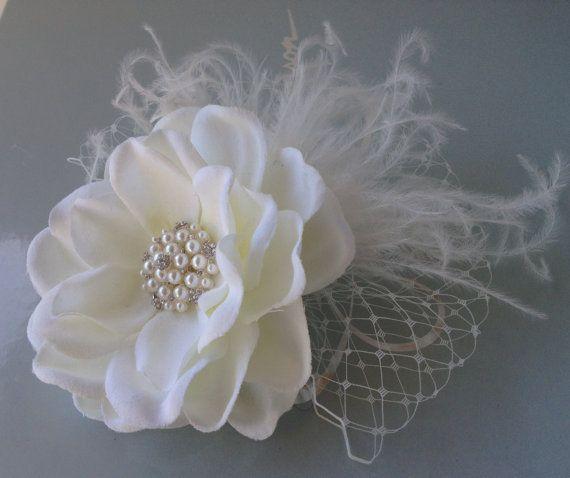 Bridal Hair Flower / Ivory Bridal Hair Clip / Wedding Hair Accessories.