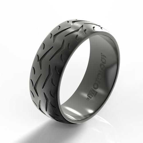 Are you truly passionate about riding? Then you need this motorcycle tire ring! With a ring like this on your finger, you're guaranteed to have other riders com