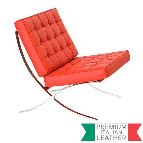 Barcelona Chair Red - Premium Version - Replica