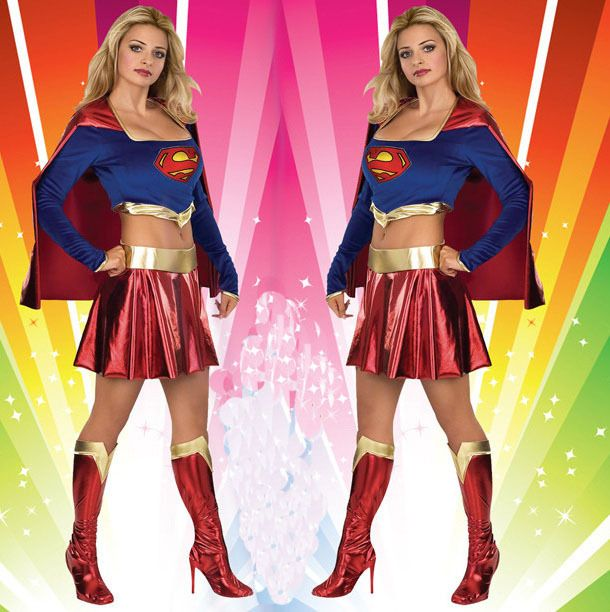 ==> [Free Shipping] Buy Best Halloween Super Man Women Costumes Cosplay Supergirl Clothes Fashion Fancy Hero Heroine Superman Suits wholesale Online with LOWEST Price | 1886311772