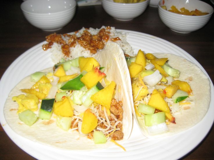 If you've never made peach tacos you HAVE to try it they are so sweet & delicious!