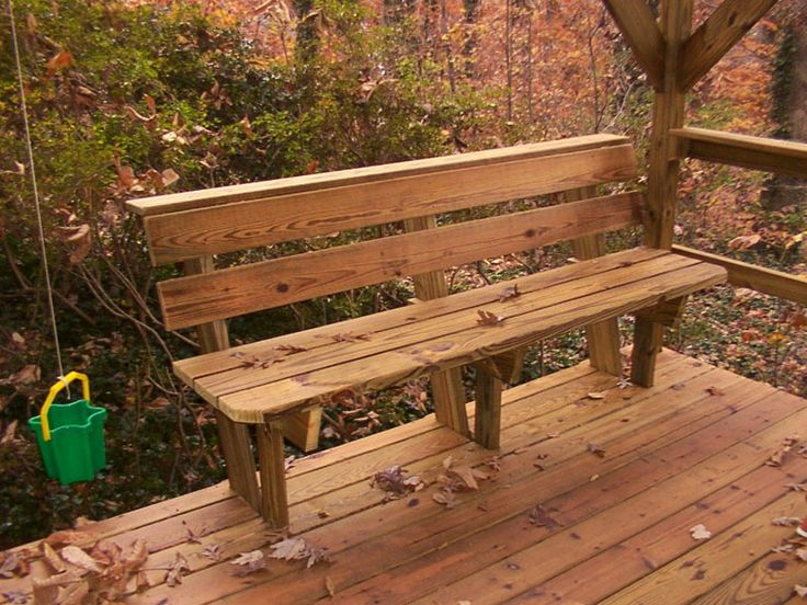 Deck Bench Design Plans Benches Amp Picnic Tables Photo Gallery Go Out And Play Custom Design