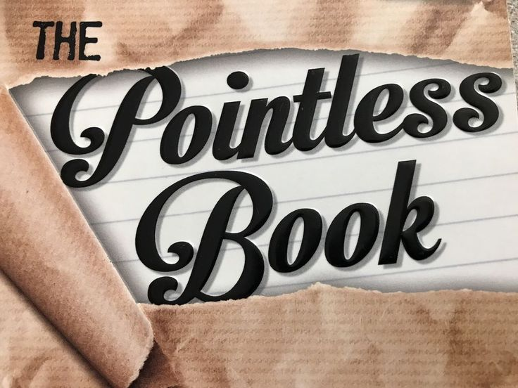 Pointless Book Started By Alfie Deyes Finished By You Love Read Books YouTube  | eBay