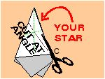 5 pointed star with one snip    http://www.ushistory.org/betsy/flagstar.html#