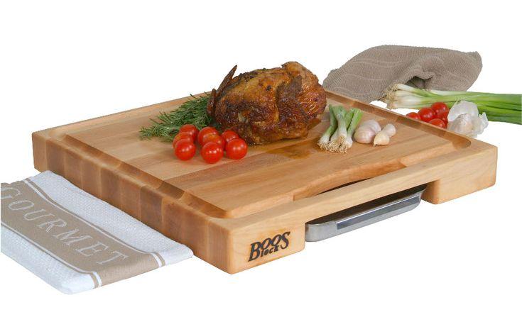 $160 Newton Prep Master Butcher Block Cutting Board John Boos via @Butcher Block Co. www.butcherblockco.com