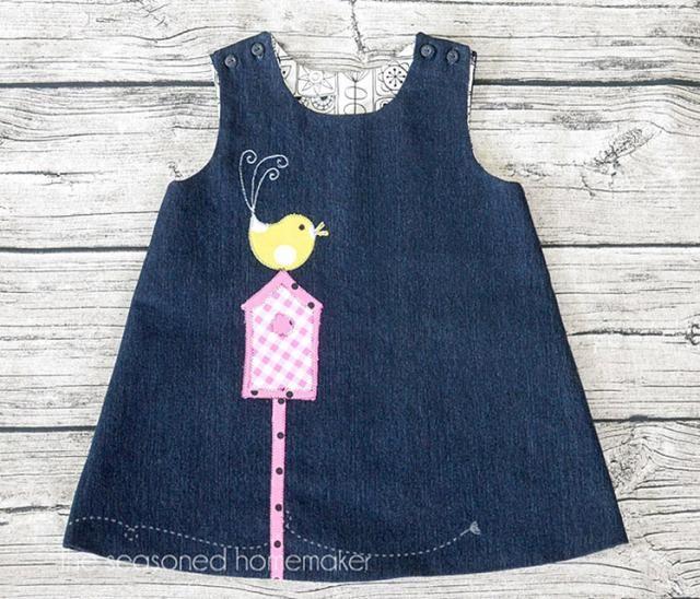 20 Adorable DIY Baby Clothes: DIY A-Line Dress
