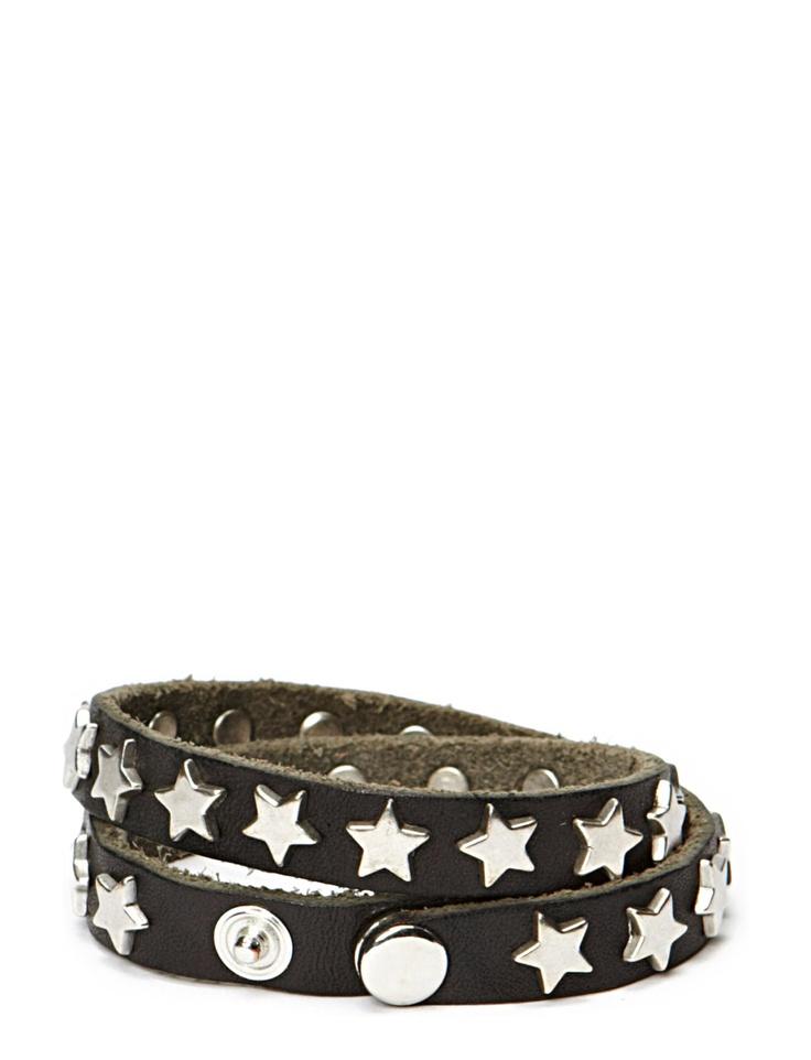 Bracelet, leather & stars. From Markberg, sold here:  http://www.boozt.com/no/no/markberg/pamela-bracelet_1331758/1331759?group=wishlist
