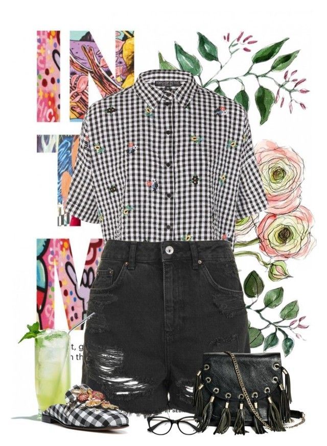 """Untitled #108"" by savannahliscomb on Polyvore featuring Topshop, GUESS by Marciano, Sam Edelman and EyeBuyDirect.com"