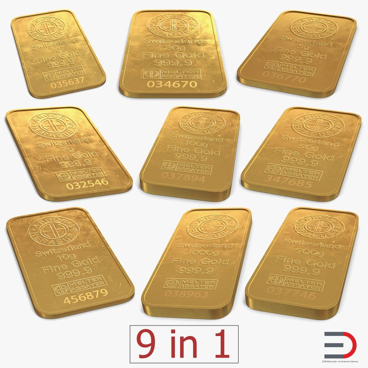 Gold Bars Collection model