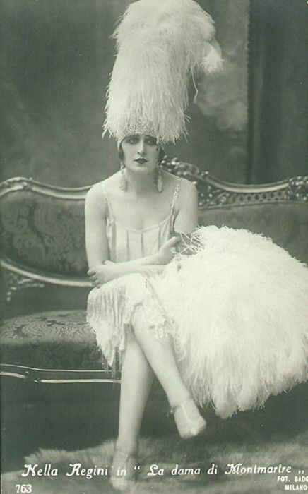 """Fascinating that, though they were classified as being """"more manly,"""" it seems to me that a lot of the time flappers were even more flamboyantly feminine than the typical Victorian Woman."""
