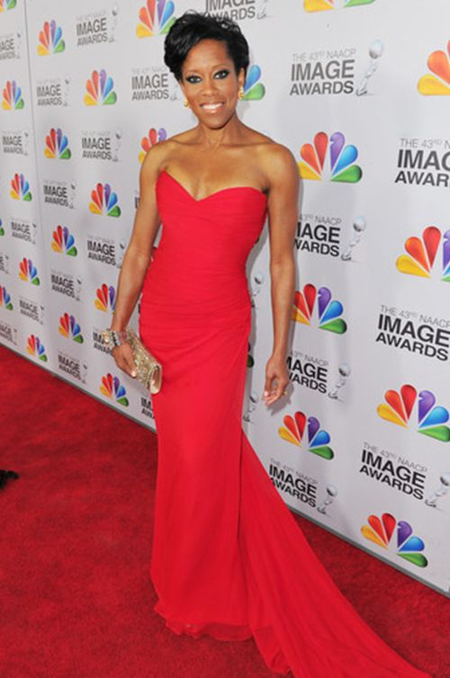 Award-Winning Actress, Regina King wears Romona Keveza - 2012 NAACP Image Awards.