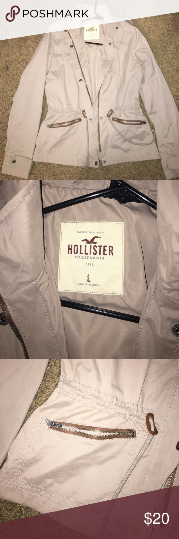 Hollister Coat Brand new condition! Cute color; matches anything! Adjustable waist tightness. Fits a size small (medium) Hollister Jackets & Coats Blazers