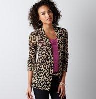 Leopard Print Open Front Cardigan... so cute!