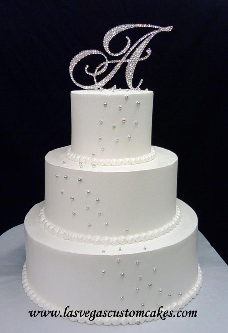 Silver Sparkle Wedding Cake @ Las Vegas Custom Cakes