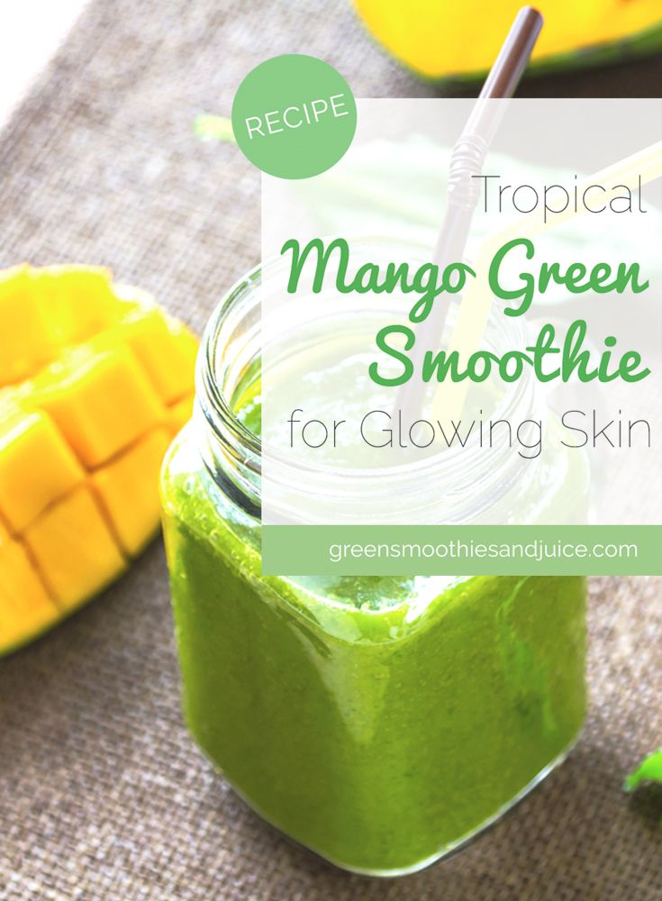 Mango is full of carotenoids that are wonderful for your skin and coconut oil is amazing for your skin, both inside and out. And the flavour of mango captures a tropical feeling that pairs perfectly with the taste of a good quality coconut oil.  #greensmoothie #smoothie #healthybreakfast #mango #gogreen #eatyourvegetables #eatyourveggies #healthyliving #eatwell #livewell #healthy