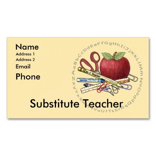 The Best Teacher Business Cards Ideas On Pinterest Back To - Teacher business card template
