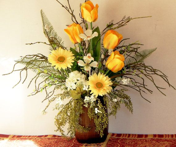 149 best spring table arrangements images on pinterest floral elegant silk floral arrangement yellow by pataylafloraldesigns mightylinksfo