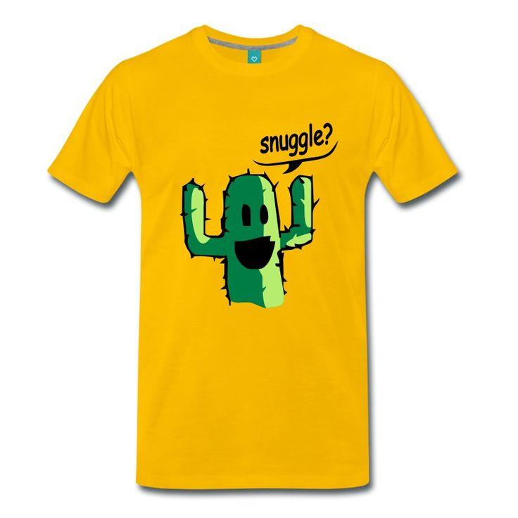 Gul snuggle T-skjorter - Premium T-skjorte for menn