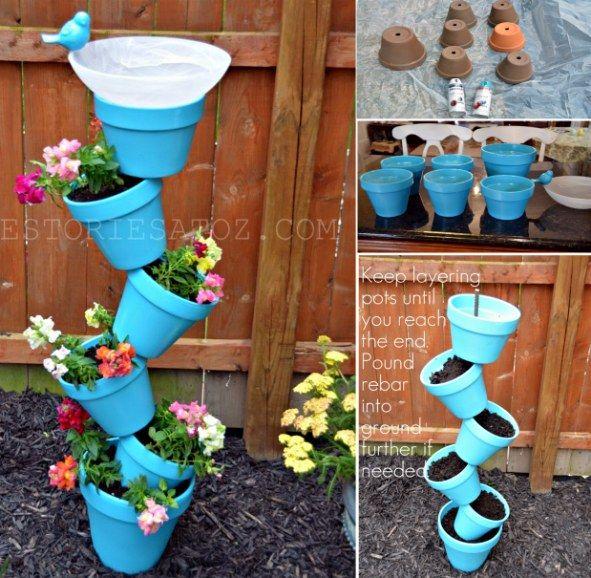 bird bath flower pot