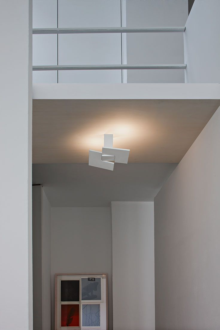 PUZZLE TWIST: Lamps of extreme style that disappear into our ceilings and walls. Installed at different angles leaving space for the light that comes from dimmable led with direct power supply to the ac line voltage. Creating an intriguing play of light. http://www.studioitaliadesign.com/prodotto.asp?lingua=eng&id=762