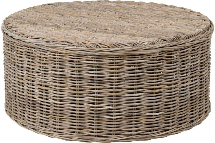 Round Coffee Table Decorative Contemporary Modern Natural Brown Rattan Wood #CraftedHome #CasualContemporaryCountryModernNautical #CoffeeTable #Table #Round #Furniture