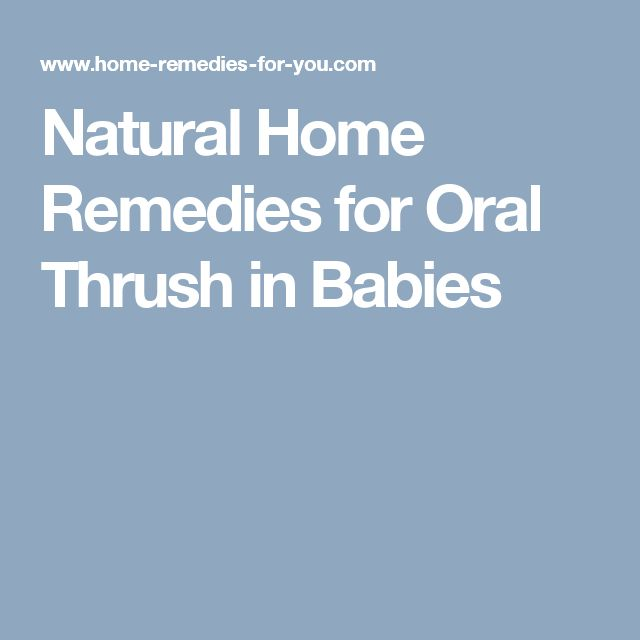 Natural Home Remedies for Oral Thrush in Babies