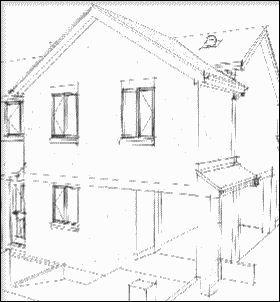 Double storey front and side house extension plans