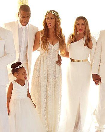 Beyonces Wedding Dress To Jay Z Pinterest • The worl...