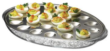 Iced Eggs Holder contemporary-platters
