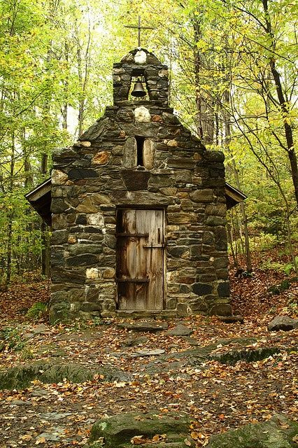 Abandoned Forest Chapel in Stowe, Vermont